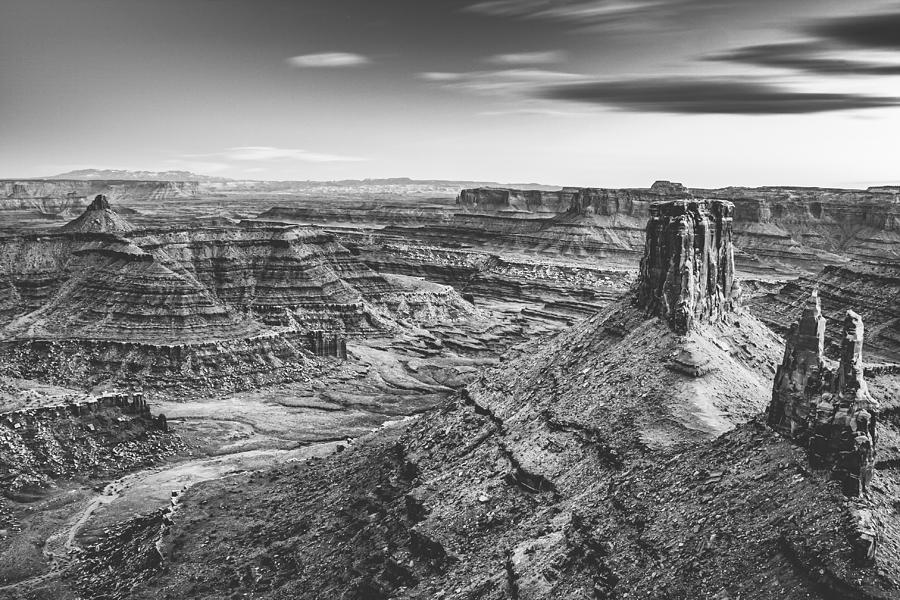 Marlboro Point sunset - black and white by Mati Krimerman