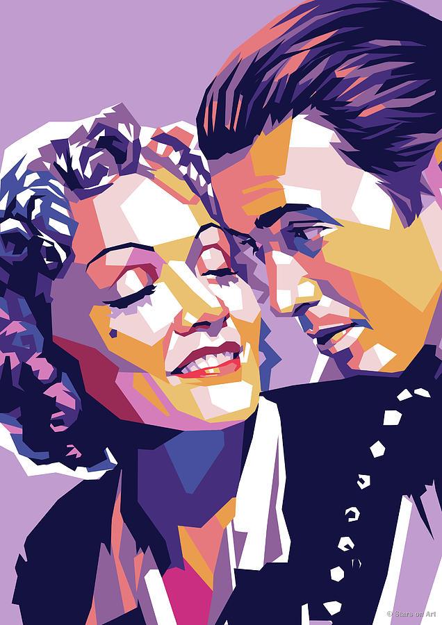 Marlene Dietrich And James Stewart Digital Art