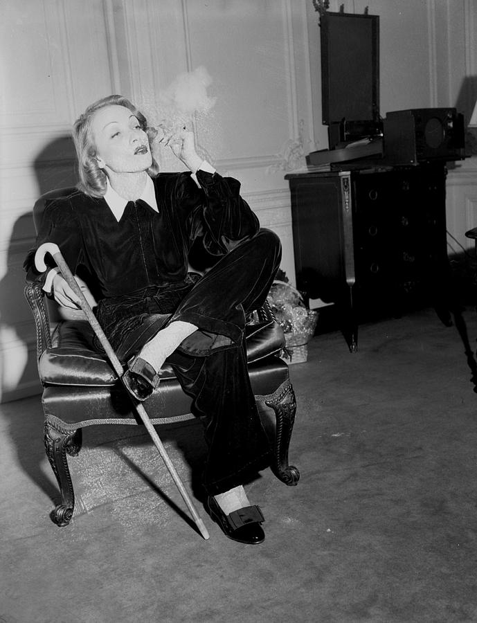 Marlene Dietrich At The St. Regis Photograph by New York Daily News Archive