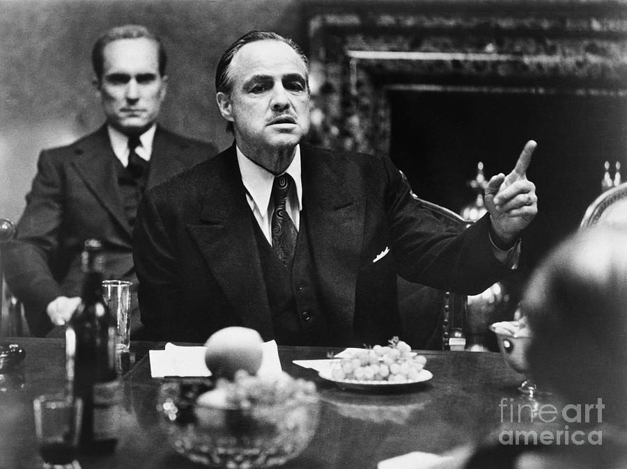 Marlon Brando In The Godfather Photograph by Bettmann