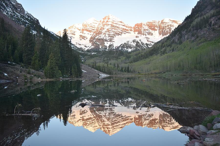 Maroon Bells Peak Aspen CO by Margarethe Binkley