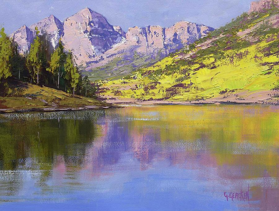 Maroon Bells Reflections Painting