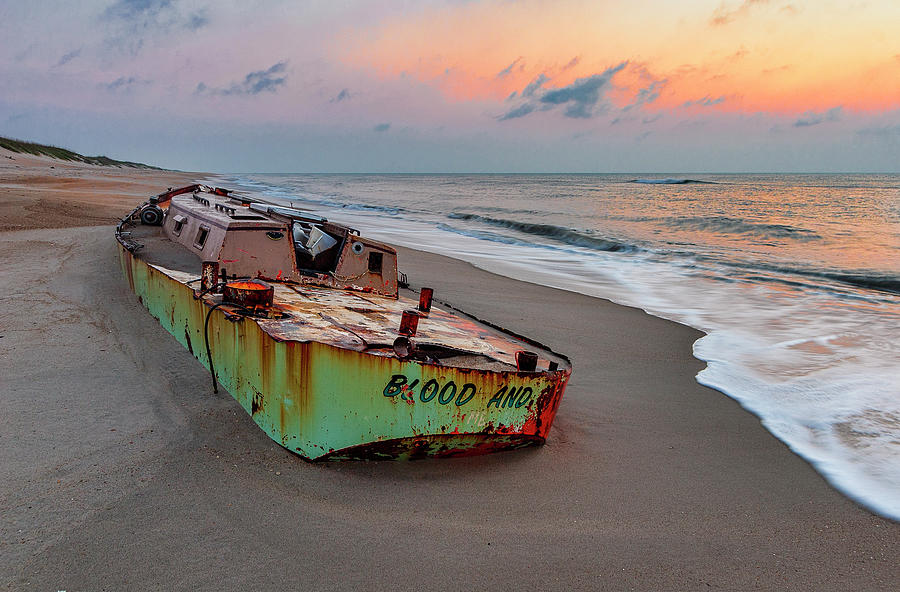 Marooned Boat on the Outer Banks by Dan Carmichael