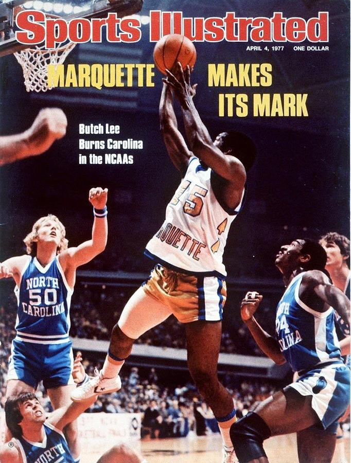 Marquette Butch Lee, 1977 Ncaa National Championship Sports Illustrated Cover Photograph by Sports Illustrated