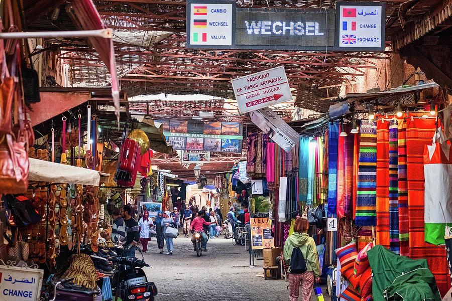 Marrakech Market Street Scene - Morocco by Stuart Litoff