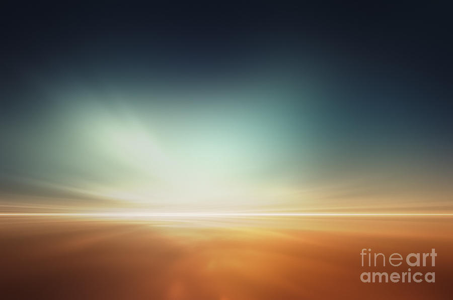 Magic Digital Art - Mars Desert Like Fantasy Landscape by Pixelparticle