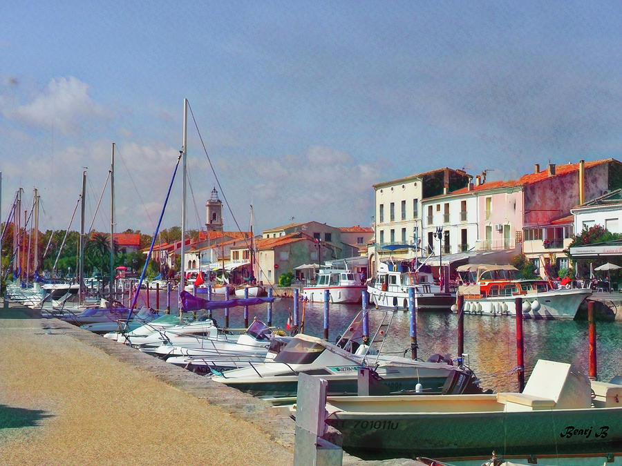 Marseillan Canal by Bearj B Photo Art