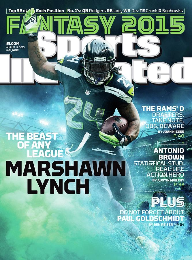 Marshawn Lynch 2015 Nfl Fantasy Football Preview Issue Sports Illustrated Cover Photograph by Sports Illustrated