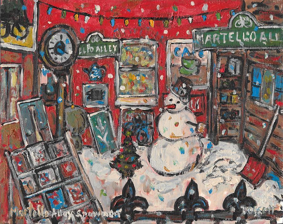 Martello Alley Snowman by David Dossett