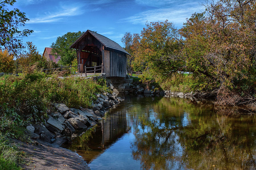 Martin Covered Bridge in autumn by Jeff Folger
