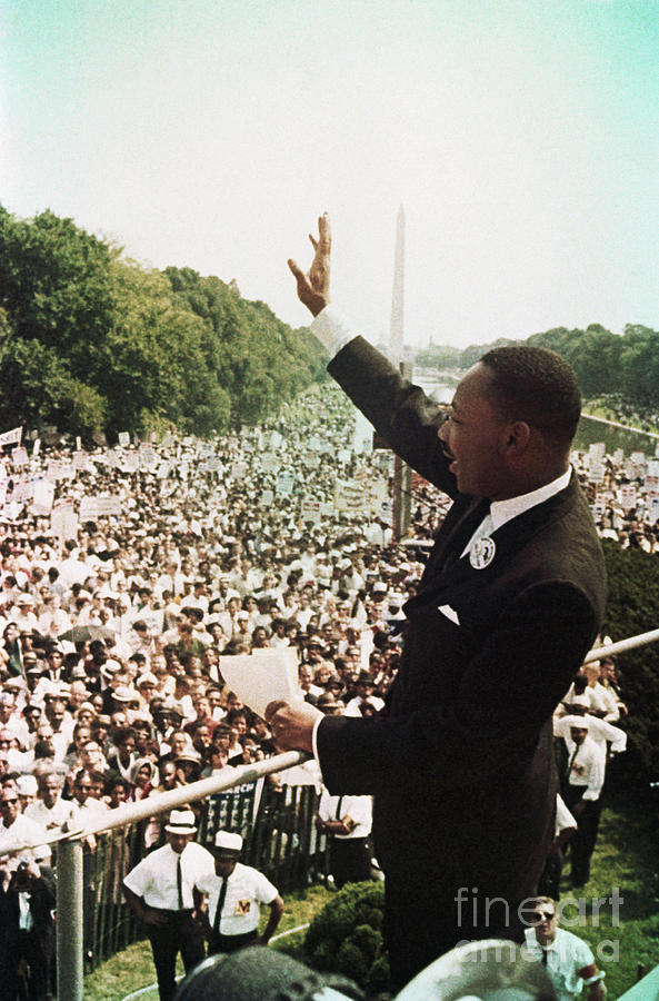 Martin Luther King During The March Photograph by Bettmann