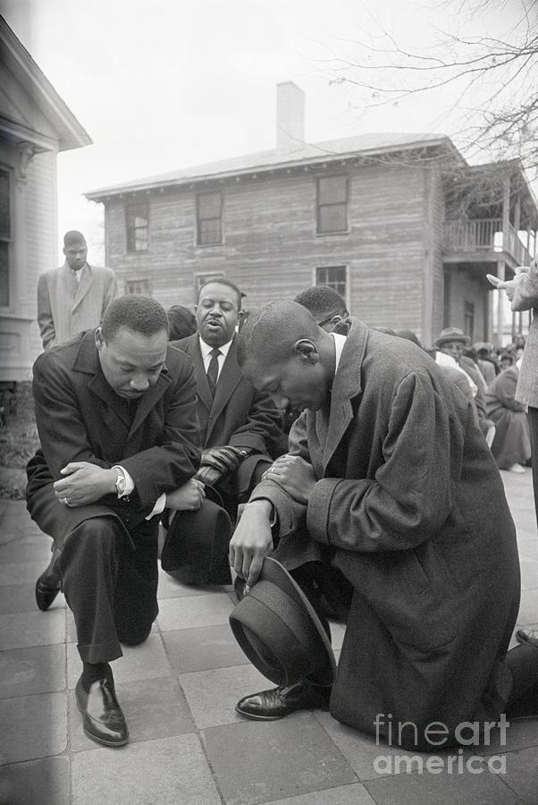 Martin Luther King Jr. Praying Photograph by Bettmann