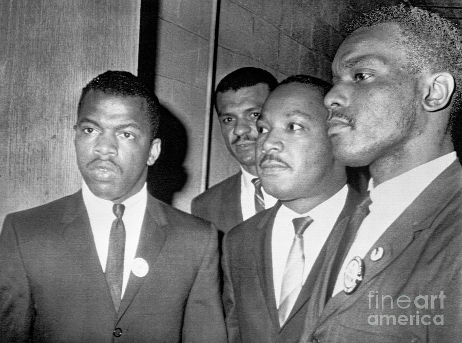 Martin Luther King Jr. With John Lewis Photograph by Bettmann