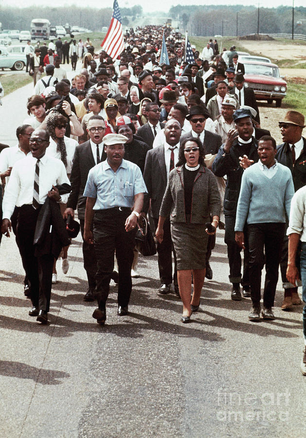 Martin Luther King Leading A March Photograph by Bettmann