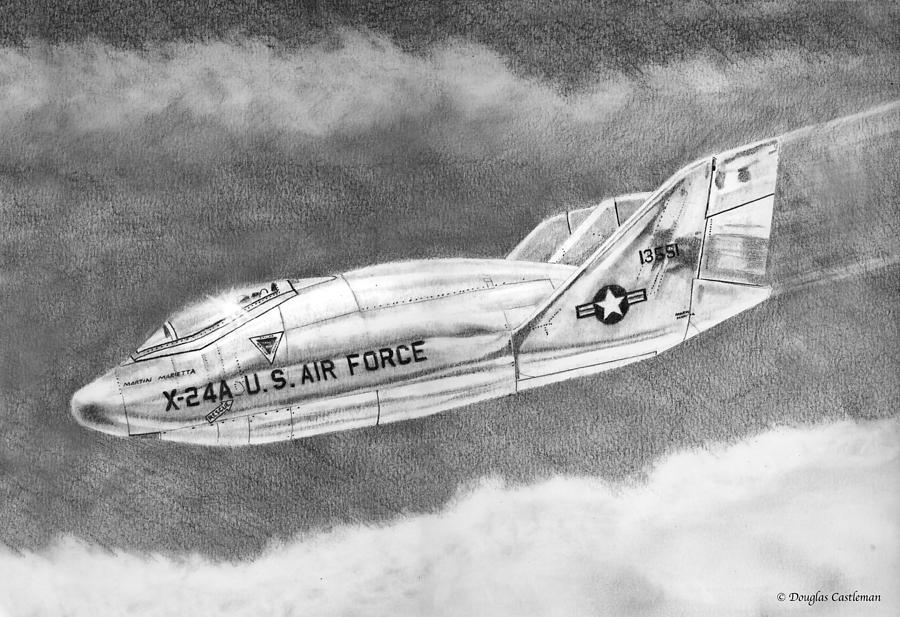 Martin Marietta X-24A Lifting Body by Douglas Castleman