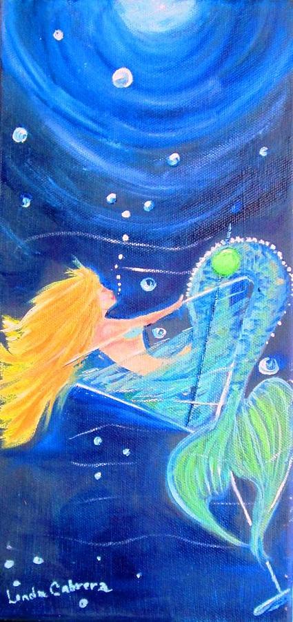 Martini Mermaid by Linda Cabrera