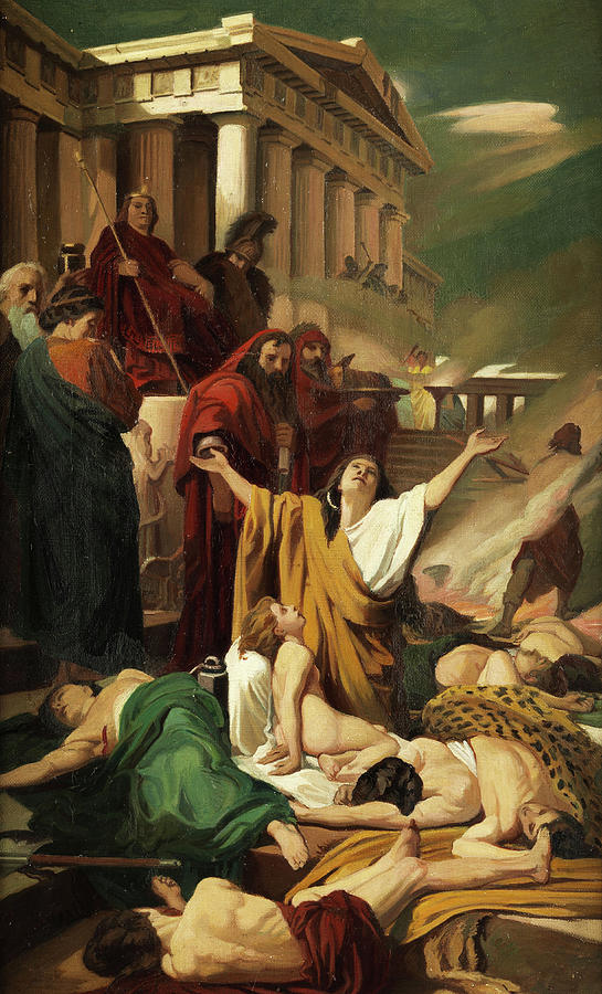 Martyrdom Of The Seven Maccabees Painting By Antonio Ciseri