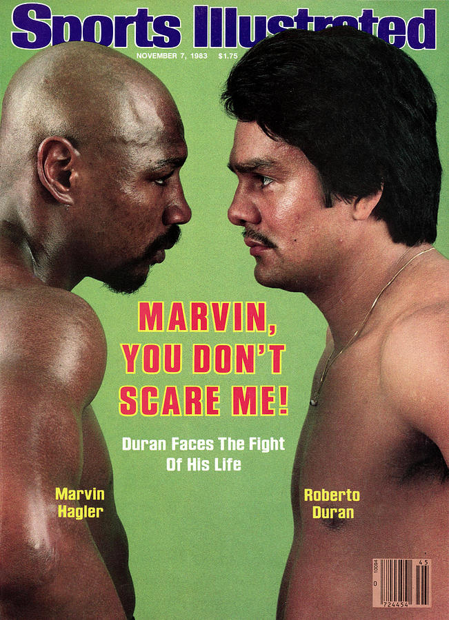 Marvelous Marvin Hagler And Roberto Duran, 1983 Wbcwbaibf Sports Illustrated Cover Photograph by Sports Illustrated