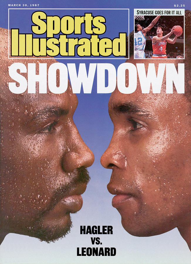 Marvelous Marvin Hagler And Sugar Ray Leonard, 1987 Wbc Sports Illustrated Cover Photograph by Sports Illustrated