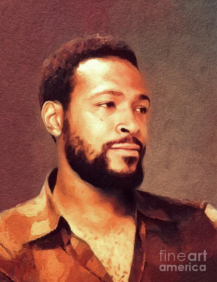 Marvin Gaye, Music Legend Painting