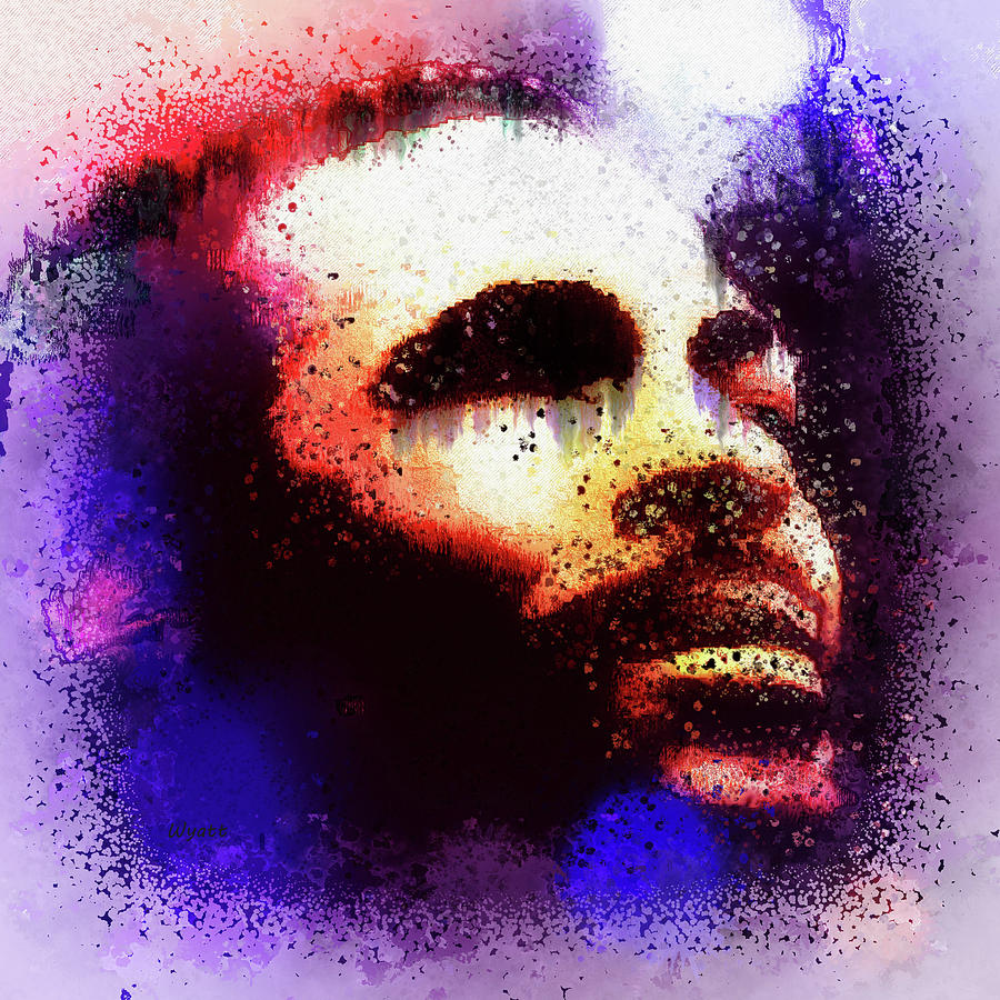 Marvin Gaye Digital Art - Marvin Gaye by Regina Wyatt