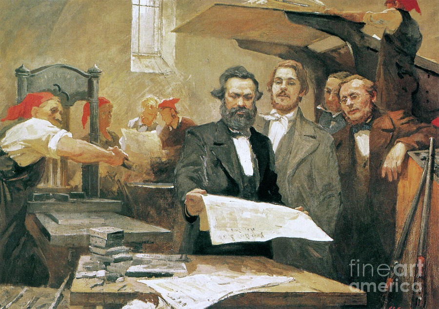 MARX AND ENGELS, 1848 by Granger