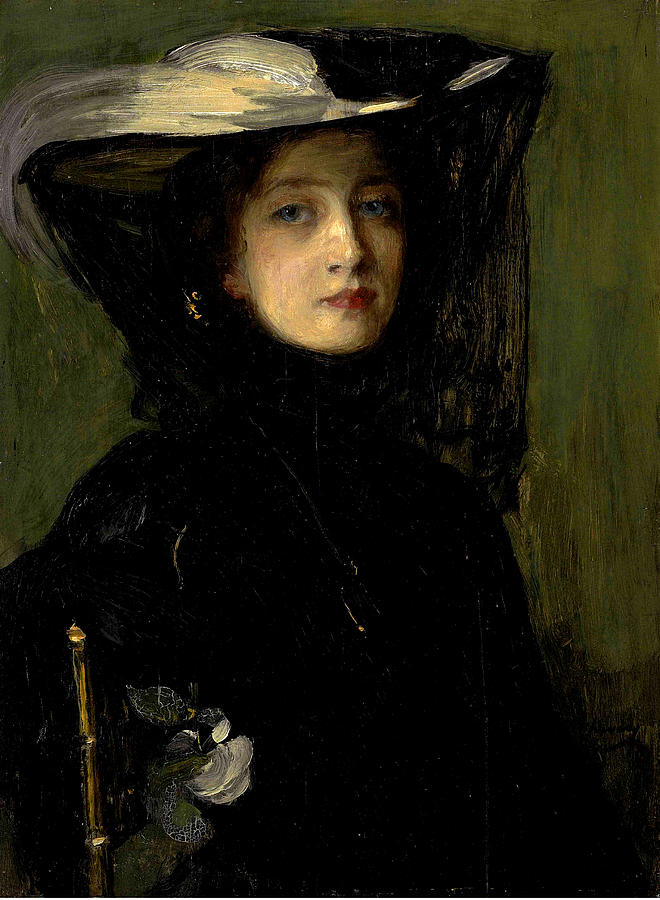 Mary in Black Painting by Sir John Lavery