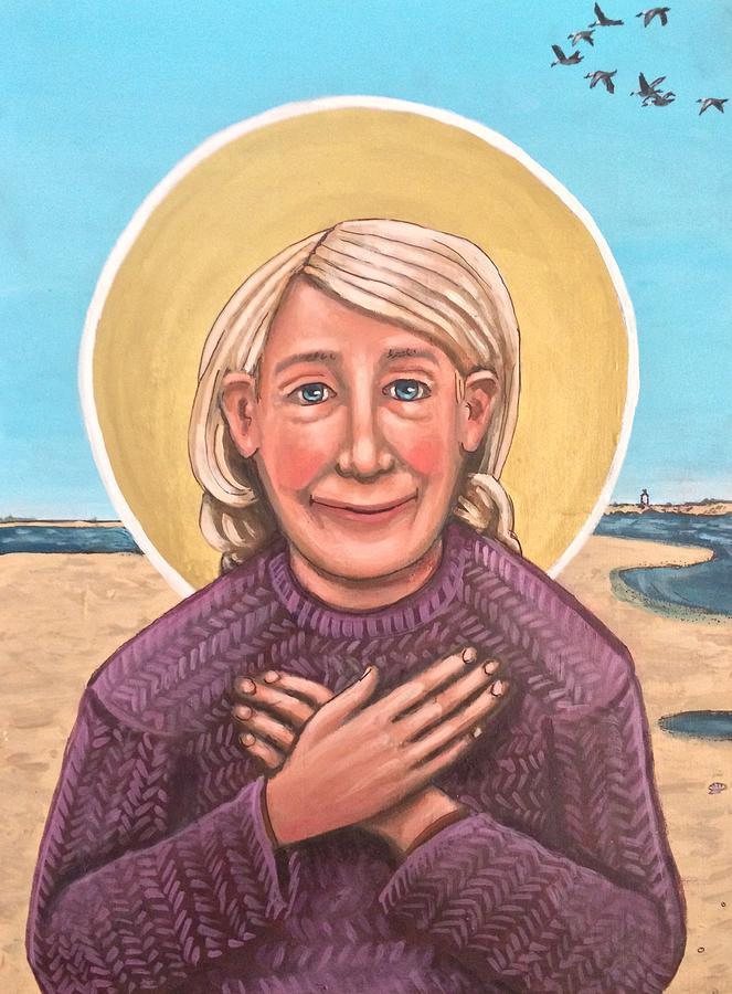 Mary Oliver Painting by Kelly Latimore