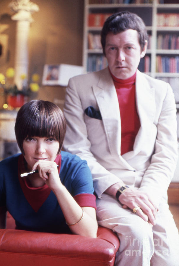 Mary Quant With Husband Photograph by Bettmann