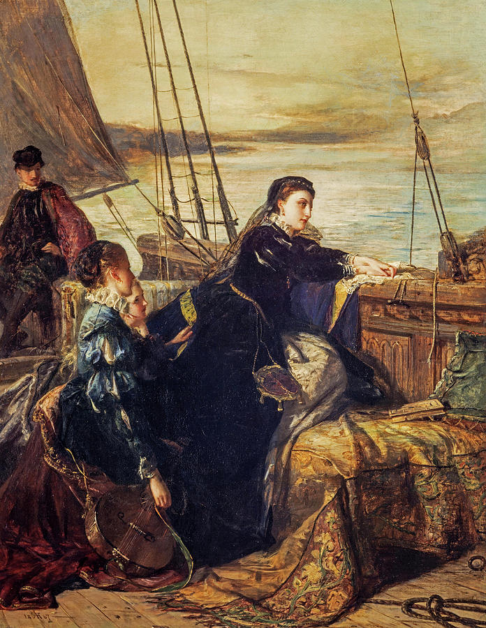 Robert Painting - Mary, Queen Of Scots - The Farewell To France, 1867  by Robert Herdman