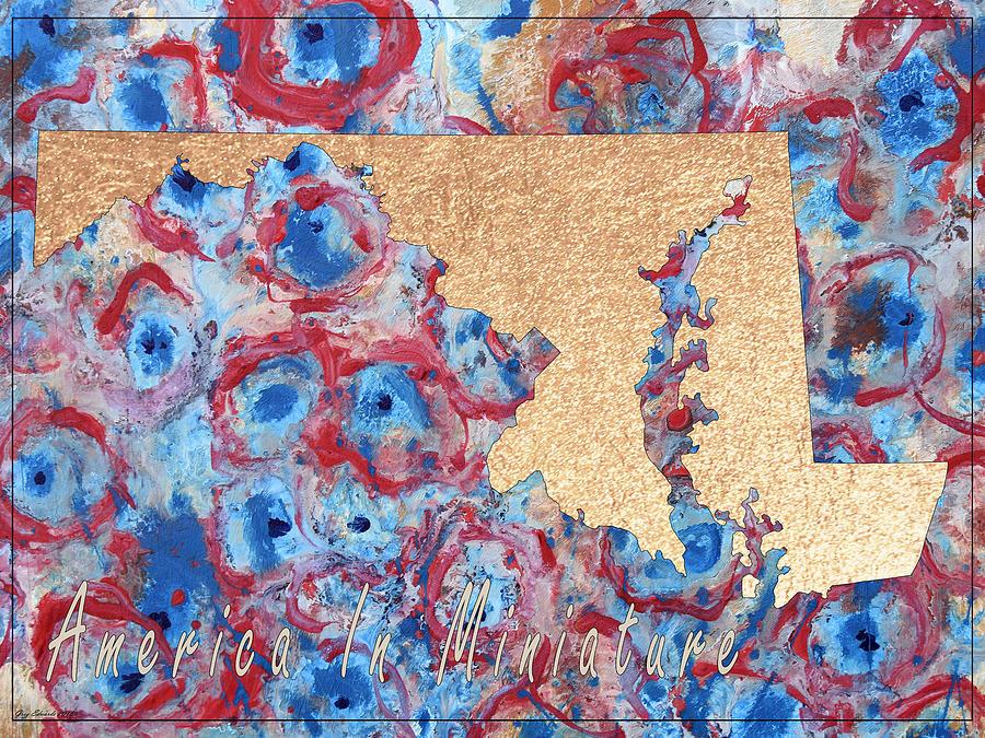 Maryland Art Map Style 8 by Greg Edwards