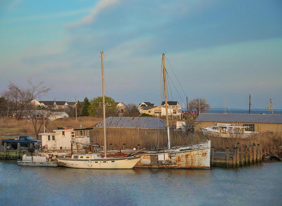 Maryland Tilghman Island Chesapeake Bay Photograph By Bill Cannon