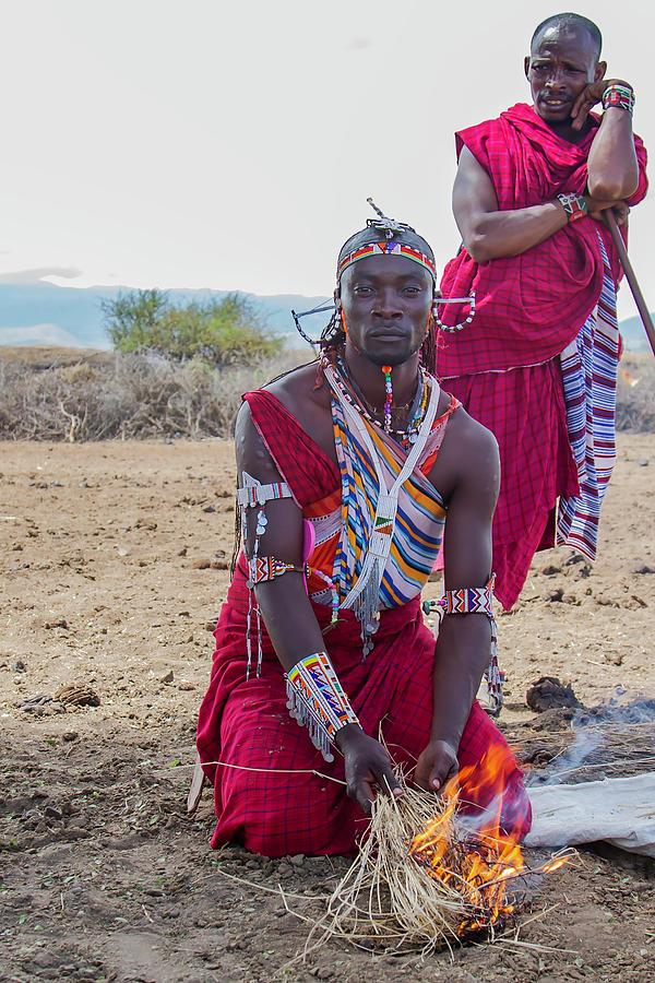 Masai Photograph - Maasai Warrior by Thomas Kallmeyer