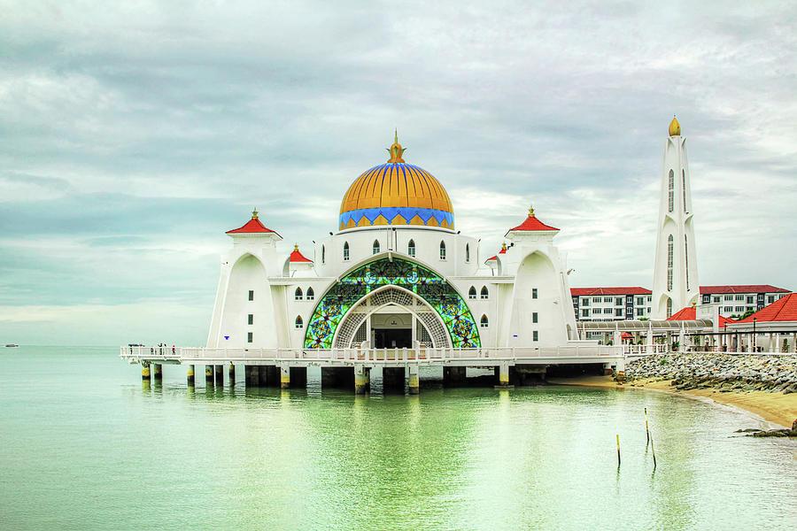 Masjid Selat Melaka Photograph by T L Chua Photography
