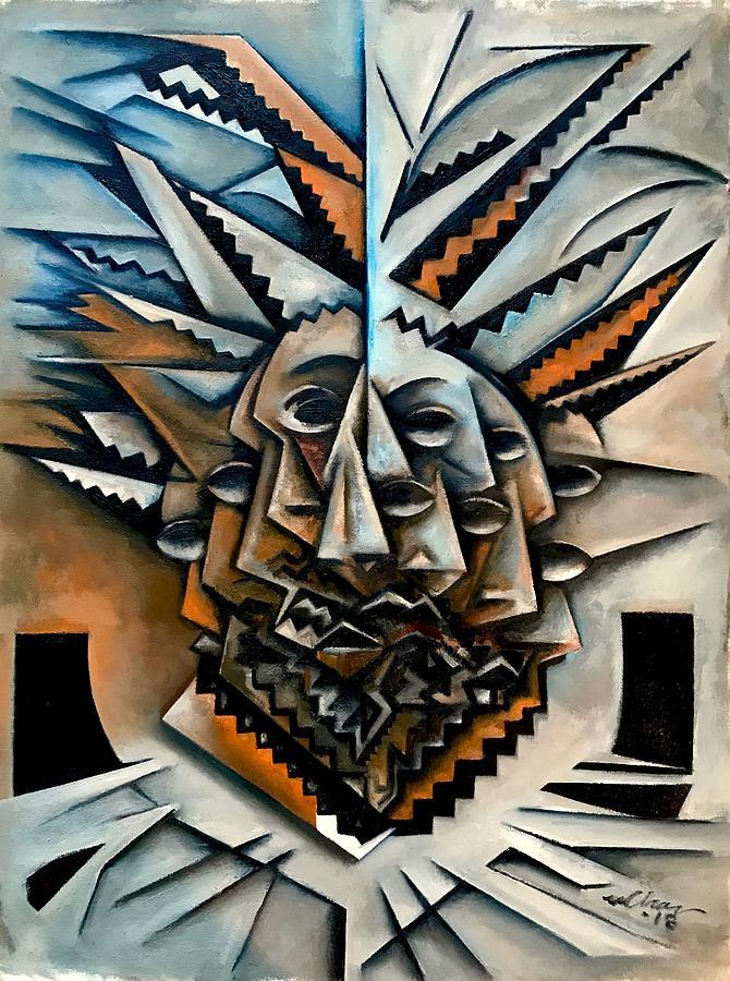 Jazz Painting - Mask De Epistrophique by Martel Chapman