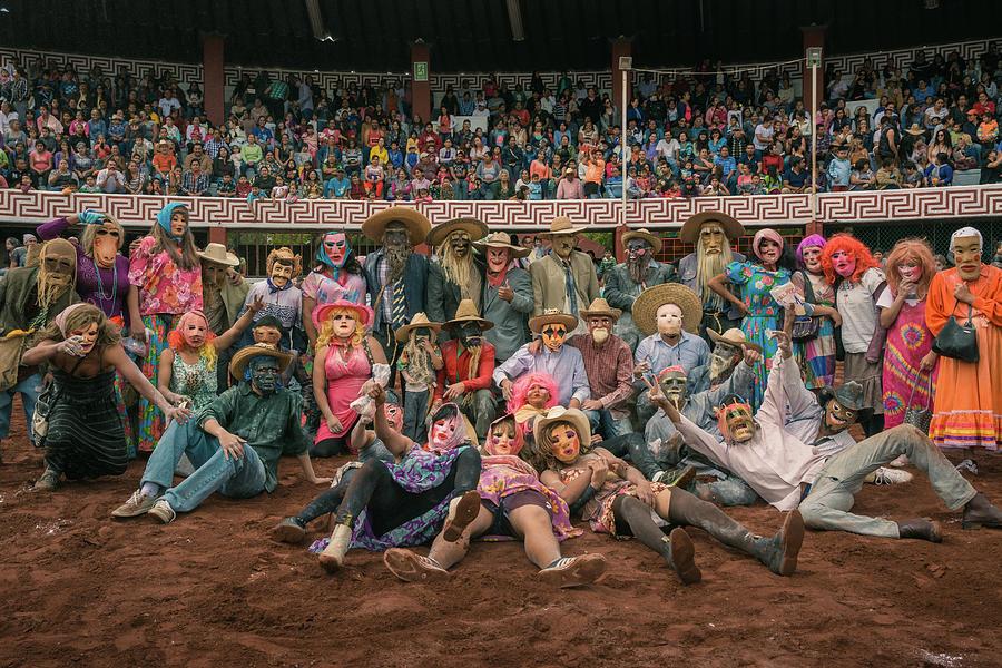 Masks Photograph - Masked Zayacas of Ajijic, Mexico by Dane Strom