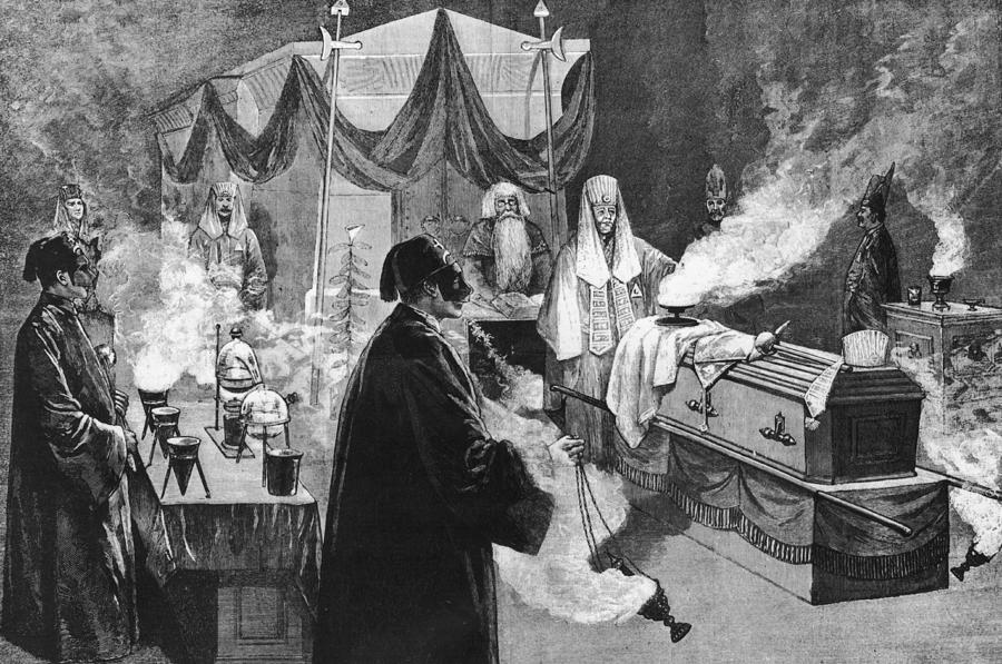 Masonic Ritual Photograph by Hulton Archive