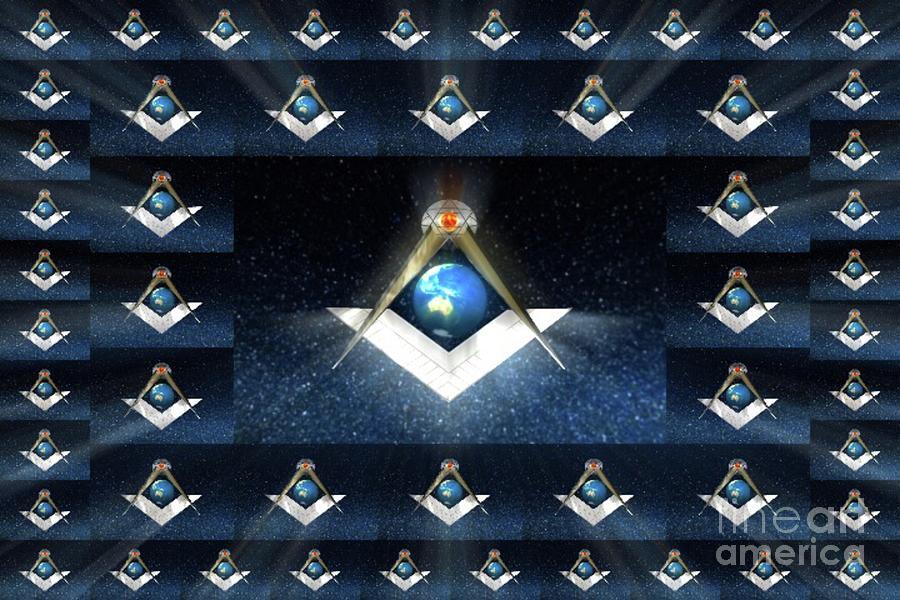 Lodge Painting - Masonic World by Pierre Blanchard