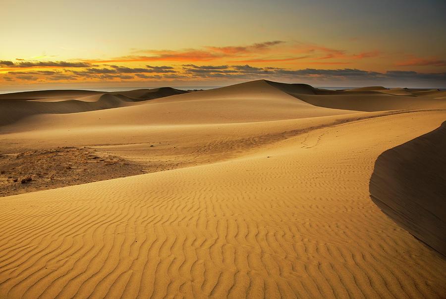 Maspalomas Dune Dawn Photograph by Alex Bramwell