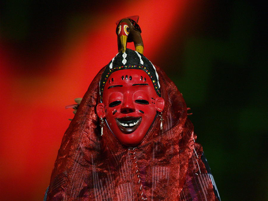 Africa Photograph - Masque Africain by Christine AVIGNON