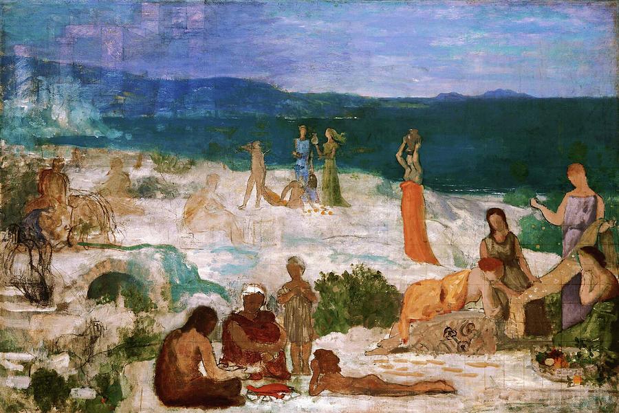 Massilia Painting - Massilia, Greek Colony - Digital Remastered Edition by Pierre Puvis de Chavannes