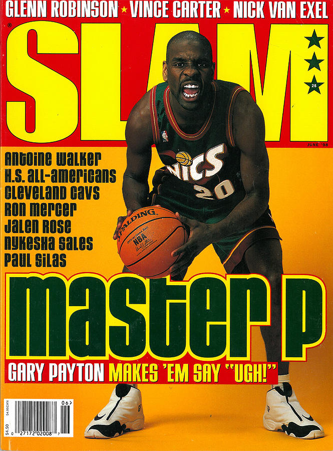 Master P: Gary Payton Makes Em Say Ugh! SLAM Cover Photograph by Getty Images