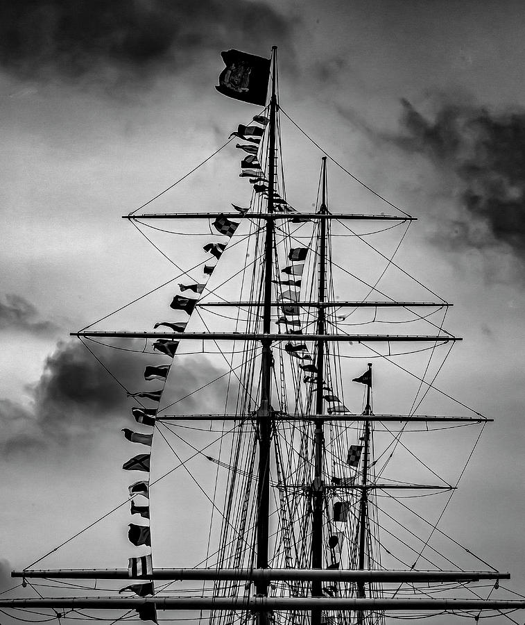 Masts Clouds and Sky by Robert Ullmann