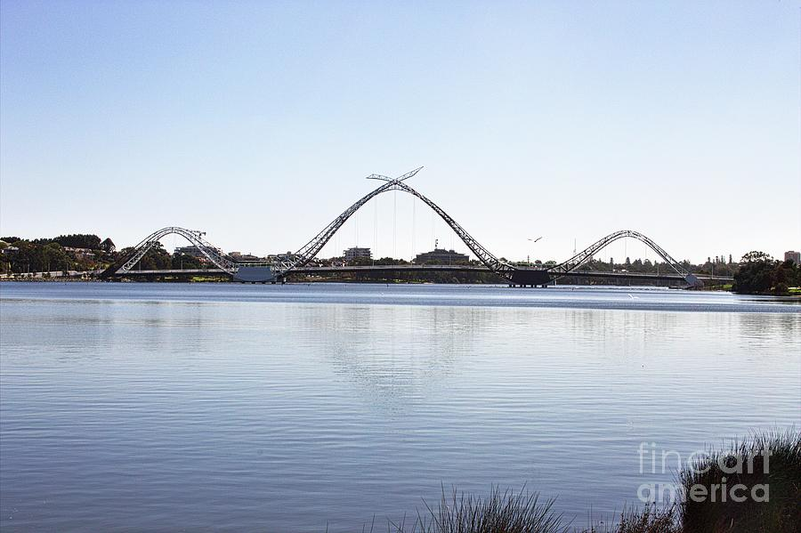 Matagarup Bridge - Swan River - Perth WA by Carolyn Parker