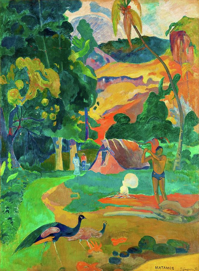 Paul Gauguin Photograph - Matamoe, Death, Landscape With Peacocks - Digital Remastered Edition by Paul Gauguin