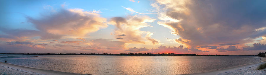 Matanzas Inlet sunset panorama by Stacey Sather