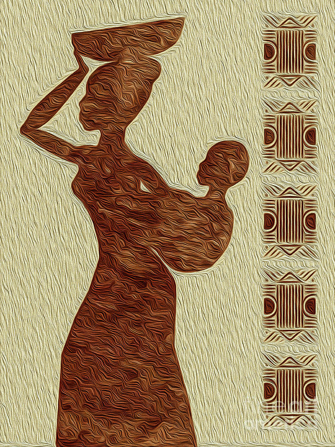 Maternal Grace African Fine Art I Digital Art by Kenneth Montgomery