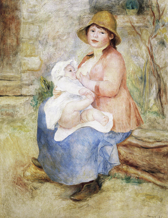 Maternity Painting - Maternity - Digital Remastered Edition by Pierre-Auguste Renoir