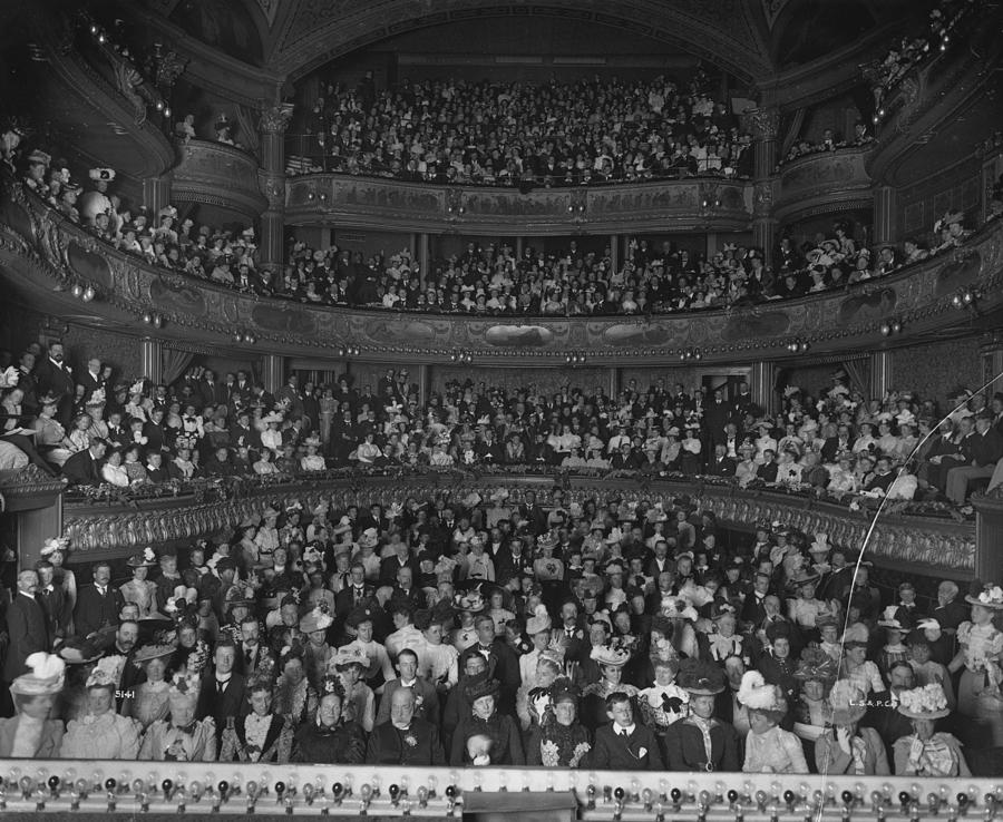 Matinee Audience Photograph by London Stereoscopic Company