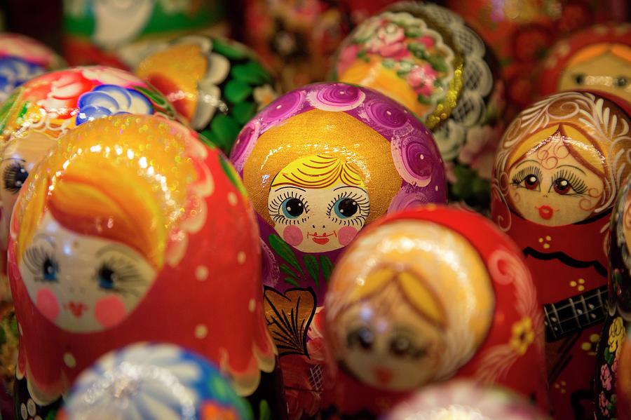 Matryoshka Dolls For Sale At Souvenir Photograph by Holger Leue